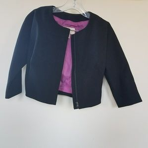 H&M cropped structured bomber